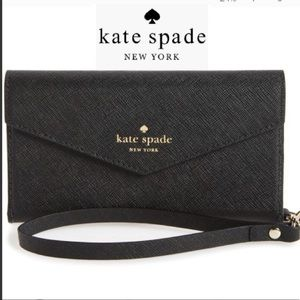 NWT🌷Kate Spade🌷Iphone 7/8 Plus leather wristlet